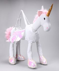 Take a look at the White Ride-On Unicorn Dress-Up Outfit - Kids on #zulily today!