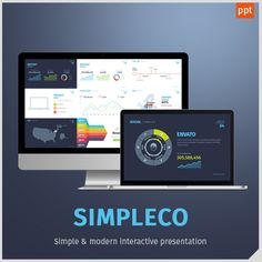 Simpleco Simple Powerpoint Template  Simple Powerpoint Templates