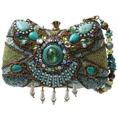 Amazon.com: Mary Frances Byzantine Empire Blue & Green Convertible Clutch Handbag: Shoes