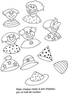 (2014-07) Giv klovnene hatte på, så mønstrene paser