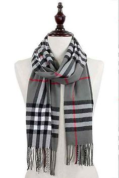 SUPER CUTE Gray Plaid Scarf!!  Get yours today at http://wildtyboutique.com/products/gray-plaid-scarf?utm_campaign=social_autopilot&utm_source=pin&utm_medium=pin