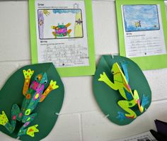 Teach Junkie: 25 Easy Frog and Toad Ideas and Activities - 3D Frog Craft