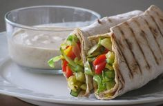 Crispy Vegetable Lavish Wraps with Spicy Hummus Dip