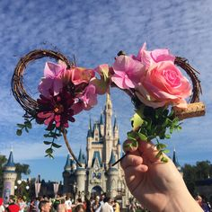 Browse unique items from HappilyEarverAfter on Etsy, a global marketplace of handmade, vintage and creative goods. Disney Diy, Disney Crafts, Disney Stuff, Disney Vacations, Disney Trips, Disney Mickey Ears, Minnie Mouse, Disneyland, Disney Wreath