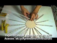 Tutorial de como hacer cestas de papel periódico - YouTube
