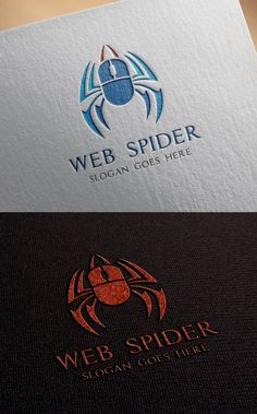 Week 6: Pictographic logos - The mouse incorporated into the spiders body works well because at first it seems like it belongs. - Also would work well in all different colors or in BW without being difficult to understand