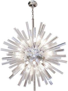 Crystal Snowflake Chandelier (Large) - Dering Hall - by Craig Van Den Brulle