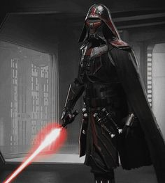 """'Jedi Killer' (Kylo Ren) concept by Christian Alzmann (More Here)""""They asked me if we could to 'Boba' up the Jedi Killer, make him look like more of a bounty hunter.""""Taken from The Art of Star Wars: The Force Awakens Star Wars Concept Art, Star Wars Fan Art, Rogue One Star Wars, Star Wars Characters Pictures, Knights Of Ren, Star Wars Sith, Jedi Sith, Fantasy Warrior, Star Wars Collection"""