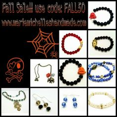 www.mariemichelleshandmade.com beautiful affordable and stylish handmade pieces. Save 50% off your entire purchase ;)