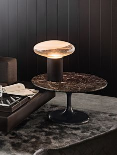 Neto is also a collection of occasional tables, available in two heights, three table top diameters, and three unusual pairings of materials and colors. Interior Lighting, Lighting Design, Lighting Ideas, Modern Interior, Interior Design, L And Light, Light Decorations, Wall Design, Interior Inspiration