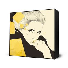 Gold Mini Art Block Print - 10 X 10 Inches by Manuel Rebollo -- $35