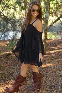 Bring Me Back Dress: Midnight Black | Hope's