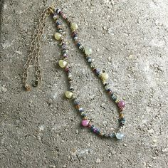 Leather and Stone Creations - Sapphire Briolette Gemstone Necklace, $275.00 (http://www.leathernstone.com/sapphire-briolette-gemstone-necklace/)
