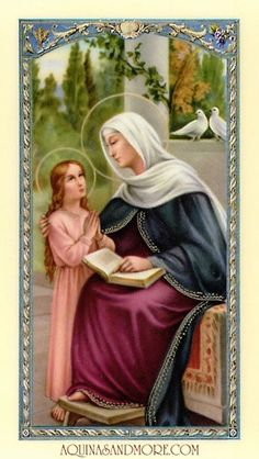 Prayer to Saint Anne Prayer Card