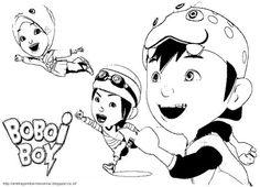 Aneka Gambar Mewarnai - Gambar Mewarnai Boboi Boy Untuk Anak PAUD dan TK.   Pelajaran menggambar dan...