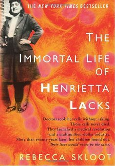 Two stories in one. Sixty years ago, unbeknownst to Henrietta, her cancer cells are used in research throughout the world. Author Rebecca Skloot takes 10 years to research this story and gain the family's trust.