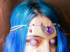 Moon Goddess Circlet  Twilight  medieval by ElvenAdornments, $33.00