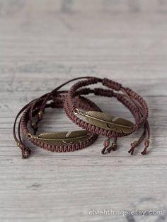 Matching couple bracelets Feather bracelets Couples bracelet couple Matching couple bracelets Feather bracelets Couples bracelet Macrame bracelet His and her bracelet Friendship bracelet Couples set - Bracelet Couple, Matching Couple Bracelets, Bracelet Set, Bracelet Making, Diy Bracelets For Him, Handmade Bracelets, Men Bracelets, Loom Bracelets, Paracord Bracelets