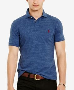 Polo Ralph Lauren Men's Custom-Fit Mesh Polo Shirt   macys.com