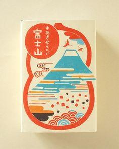 煎屋 手焼きせんべい富士山 6枚入箱