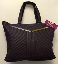 Rampage Tote Purple with Gold Tone Hardware Large Handbag Purse NWT  | eBay