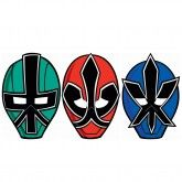 Power Rangers Samurai Party Masks (Pack of 8)