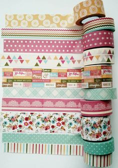 """Washi Tape -24"""" Sample words washi tape/letters phrases washi tape/tea party washi/Michael's recollections/roses garden/pastel colors"""