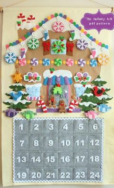 (9) Name: 'Sewing : Gingerbread House Advent Calendar PDF More