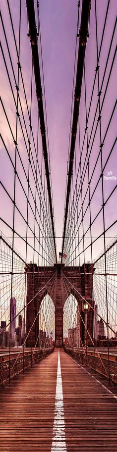 Brooklyn Bridge - New York City by Dan Piech