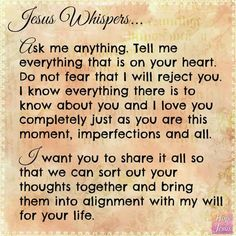 Jesus Whispers Faith Prayer, God Prayer, Faith In God, Jesus Is Lord, Thank You Jesus, Jesus Christ, Jesus Loves You, Bible Scriptures, Bible Quotes