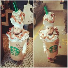 The Starbucks Halloween costume I made for my daughter :) More