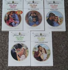 LOT OF 5 MELINDA CROSS NEW HARLEQUIN PRESENTS VINTAGE ROMANCE BOOKS 1980's #21