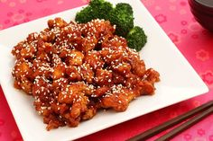 Chinese Sesame Chicken Recipe with Garlic and Chili Paste Chinese Sesame Chicken, Healthy Sesame Chicken, Chinese Chicken Recipes, Chinese Food, Asian Recipes, Asian Foods, Oriental Recipes, Wok, Chili Paste Recipe