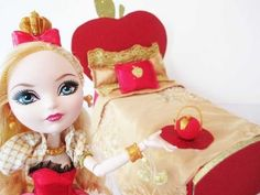Ever After High Apple White Bed Tutorial - YouTube