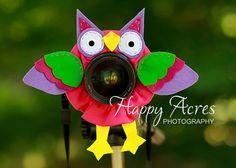 Lens Bling - Pet Pink Owl
