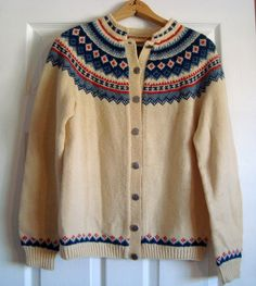 Vintage Husfliden Norway Hand Knit Wool by SofiasCobwebMuseum, $50.00