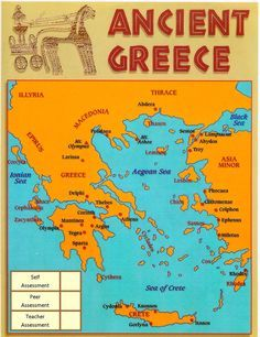 TOUCH this image: Ancient Greece - an interactive map by Yr2