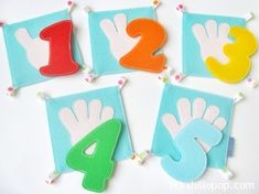 Finger Counting Felt Book Mathematical Cards and Numbers PDF Pattern Quiet Book Page