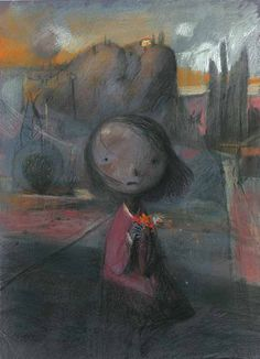 Girl worried that she doesn't belong - by Shaun Tan