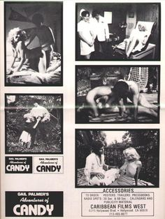 Gail Palmers Erotic Adventures Of Candy Original Pressbook Back Cover  Caribbean