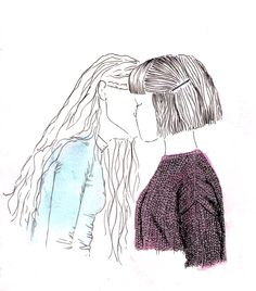 Lesbian Art, Lesbian Love, Gay Art, Garden City Movement, Arte Sharpie, Serpieri, Image Deco, Art Tumblr, Dibujos Cute
