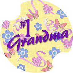 Thirstystone #1 Grandma Car Cup Holder Coaster, 2-Pack