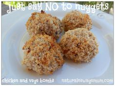 Chicken and Vege Bombs – Healthy Chicken Nuggets Healthy Chicken Nuggets, Chicken Bites, Bread Oil, Organic Garlic, Bellini Recipe, Homemade Tomato Sauce, Toddler Meals, Kids Meals, Thermomix