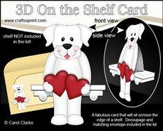3D On The Shelf Card Kit - Love & Romance Labrador Dog