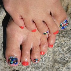 Colorful Pedicure by Jgchef13 from Nail Art Gallery