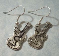 Acoustic Guitar Earrings-i want these!