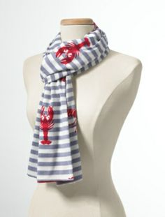 Talbots - Flocked Lobster Scarf | Scarves and Wraps |