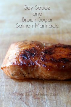 This marinated Salmon is great on the grill, stays tender, and caramelizes beautifully. Makes an easy, elegant meal.