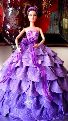 fondant bride doll cake - Google Search
