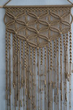 Macrame wall hanging by Mrcolmar on Etsy                              …